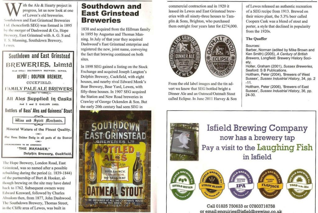 Southdown Brewery Sussex Drinker 2013